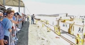 北東伯縦断鉄道のピアウイ州の建設現場を訪れたジウマ大統領(Foto: Roberto Stuckert Filho/PR)