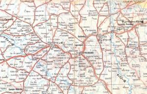 北パラナの地図