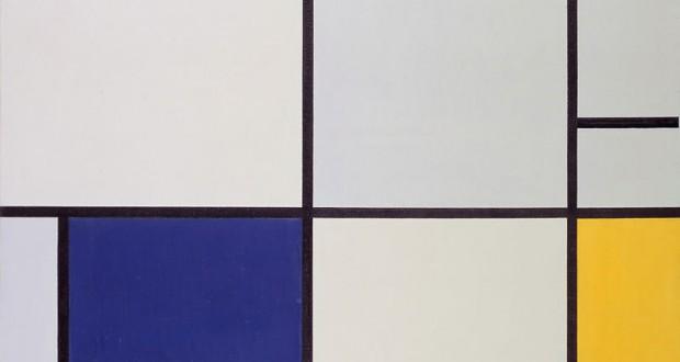 モンドリアンの代表作「タブレウ1」Gemeentemuseum Den Haag(パブリック・ドメイン)