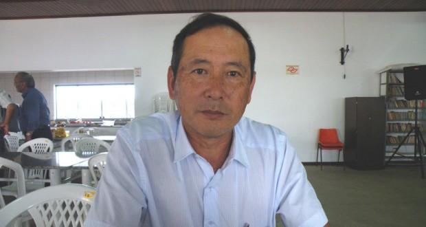 支援を呼びかける柿原セルジオ会長(当時)