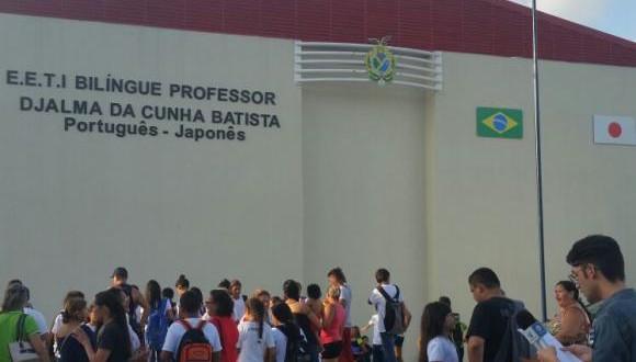 日語バイリンガル校の外観(Bianca Paiva/Agencia Brasil)