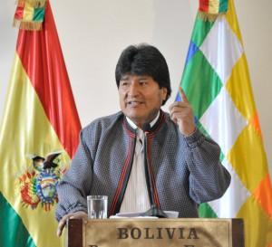 開国以来の長期政権に向かうエボ・モラレス大統領(Foto: Freddy Zarco/ABI)