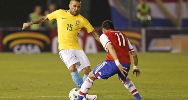 ロスタイムに同点ゴールを挙げたダニ・アウベス(Rafael Ribeiro/CBF)