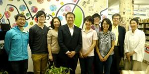 来社した筑波大学の学生たち