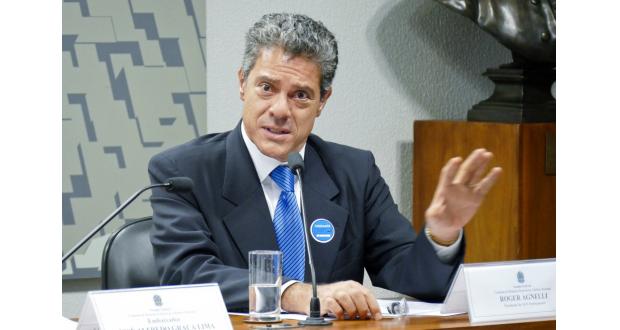 56歳の若さで亡くなったロジェール・アギネリ元Vale社社長(Roque de Sa/Agencia Senado)