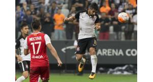リベルタドーレス杯で決勝点を挙げたコリンチャンスのギリェルミ(右)(Daniel Augusto Jr./Ag. Corinthians)