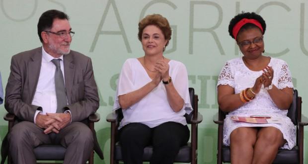 1日のイベントでのジウマ大統領(Lula Marques/Agência PT)