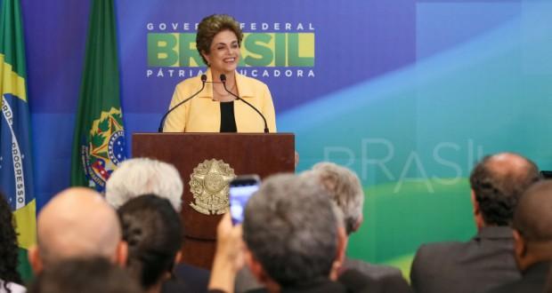 5日のジウマ大統領(Roberto Stuckert Filho/PR)
