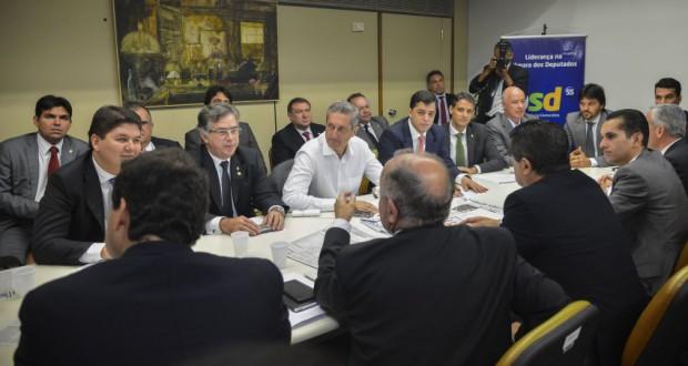 13日のPSD下議の会議の模様(Antonio Cruz/Agência Brasil)