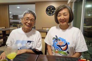 竹中芳江さんと娘のロザナさん
