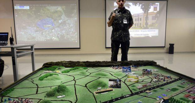 リオ市北部デオドーロでの検問訓練を実行した陸軍(Tania Rego/Agencia Brasil)