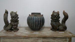 展示されている陶芸家の作品