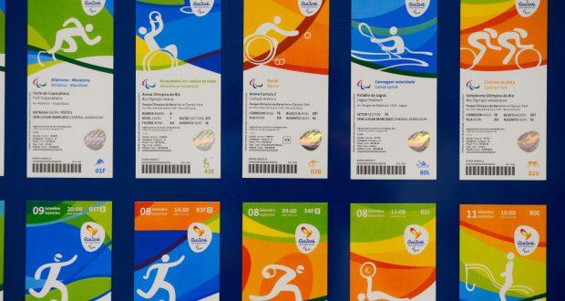 5月20日に発表された五輪チケットのデザイン(Tomaz Silva/Agencia Brasil)