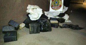2重底にしたトラックから押収された麻薬(Divulgação/PF)
