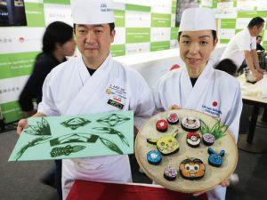 昨年話題を呼んだ農水省ブースの飾り巻き寿司や笹きり