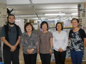 来社した長谷川さん、鈴木さん、柳生さん、本田さん、野田さん