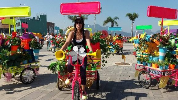 オリンピック公園で人気となった開会式で使われた自転車(リオ五輪公式サイトより)