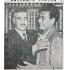 1952年9月6日付のパウリスタ新聞。凱旋した岡本選手はルカス・ノゲイラ・ガルゼス聖州知事を表敬訪問し、アブラッソ(抱擁)された
