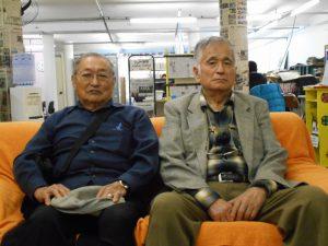 来社した松田さん、野澤さん