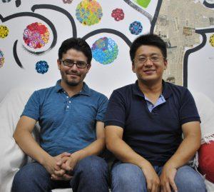 1年間それぞれの研究に努めることになったアルフレッドさん(左)と柴田さん