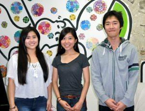 (左から)堀池桃代さん、笹川望さん、菊池匠さん
