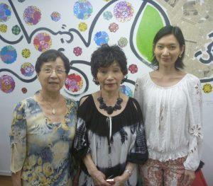 来社した(左から)小川副支部長、河村支部長、河村教授