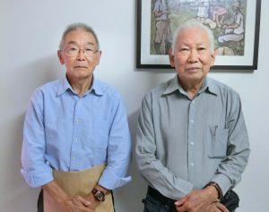(左から)宮村会長、河崎第一副会長