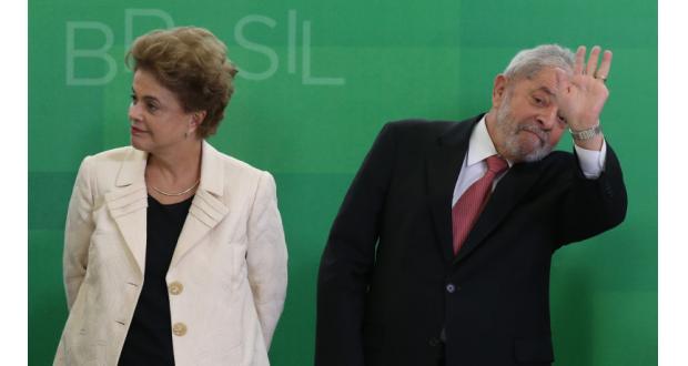 16年3月、官房長官就任式でのジウマ氏とルーラ氏(Lula Marques/Agência PT)