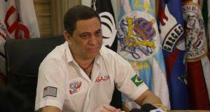 今年の採点方式を発表するリーガSP会長パウロ・セルジオ・フェレイラ氏(Paulo Pinto/Fotos Públicas)