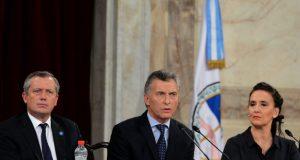 マクリ大統領(中央)(Casa Rosada)