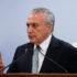 気迫みなぎる表情で「辞任しない!」と語ったテメル大統領だったが、記者団からの質問には答えなかった(Isac Nóbrega/PR)