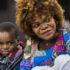 サンパウロ州の移民保護施設の母子(Alexandre Carvalho/A2img)