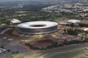 ブラジリアのW杯スタジアム、マネ・ガリンシャ(Rui Faquini/ME/Portal da Copa、26/04/2014)