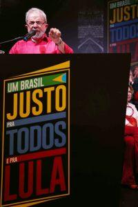 「全ての民とルーラのための正しいブラジル」キャンペーンでのルーラ元大統領(Filipe Araújo、10/11/2016)