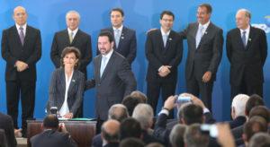 マリア・シルヴィア・バストス元BNDES総裁、就任から1年ほどで辞任となってしまった。(写真は昨年の就任式の様子 - Lula Marques/Agência PT)