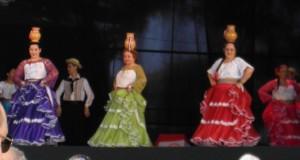 パラグアイの民族舞踊発表の様子