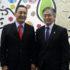 案内のため来社した喜納会長、宮岡副会長