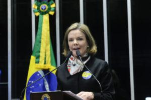 PTのグレイシ・ホフマン党首(Geraldo Magela/Agência Senado)