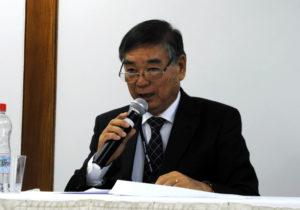 講演する山田勇次さん