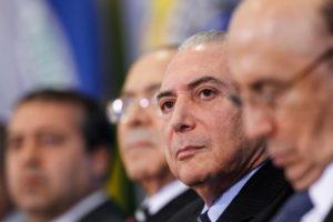 労働法裁可式典でのテメル大統領(Beto Barata/PR)