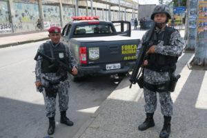 国家治安部隊は、トラックの車両強盗が多発するリオで、既に警備にあたっていた(Vladimir Platonow/Agencia Brasil)