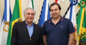 テメル大統領とマイア下院議長(Alan Santos/PR)