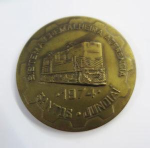 駒形さんがもらったラック式開通式の特注記念メダル