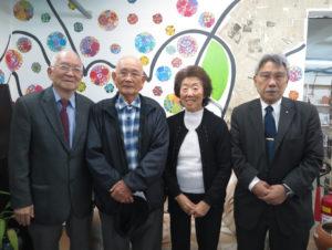 左から京野さん、上妻さん、作本さん、渡部会長