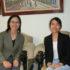 (左から)野中准教授と留学中の竹原さん