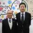 左から来社した平田事務局長と大久保企画戦略委員会委員長
