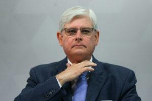 12日に開催された汚職撲滅キャンペーンでのジャノー検察庁長官(Marcelo Camargo/Agência Brasil)