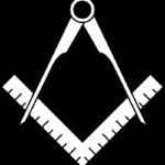 石工職人のギルドの名残を残す定規とコンパスのシンボル(By MesserWoland, via Wikimedia Commons)
