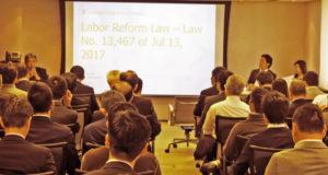 Mattos Filho法律事務所で開催されたセミナーの様子