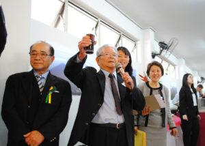 御年90歳の山本さん「乾杯!VIVA!サウーヂ!」